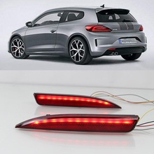 Led rear bumper lights for Volkswagen VW Scirocco R GTS Rline 2011 2012 2013 2014 2015 Braking Driving Turning lamp reflector
