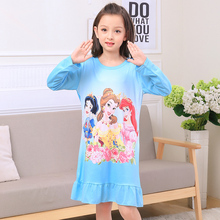 Buy Hot Sale 2017 Autumn Winter Fashion Princess Cartoon Long Sleeve Kids SleepDress Cotton Children Nightgowns Big Girl Nightdress for $5.98 in AliExpress store