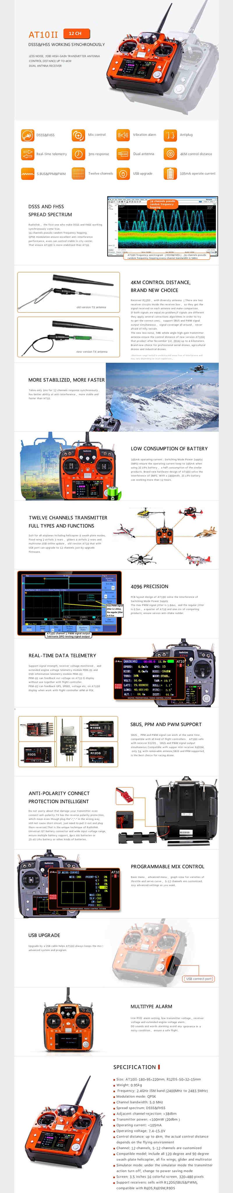2.4 GHz 12 CH remote control system - RadioLink El_