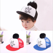 2016 New Hot Girl Boy Baby Baseball Caps Children Casual Sports Cap Kids Snapback Hat Hip Hop Hat Summer Kids Fashion Caps(China)