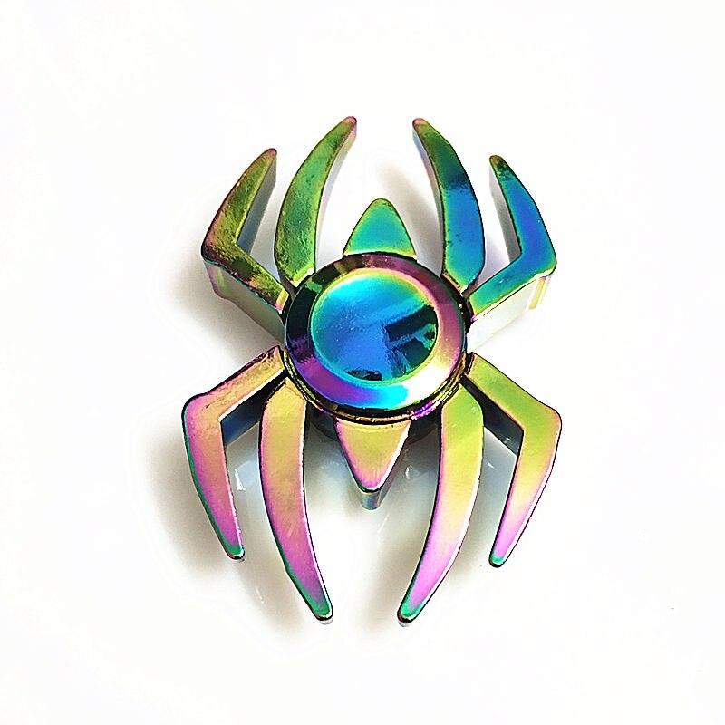 Silver EDC Finger Hand Spinner Gyro Devil Eye Fidget Focus Autism Three wings
