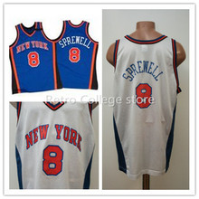 NEW YORK BASKETBALL Shirt JERSEY #8 LATRELL SPREWELL Embroidery Stitched Personalized Custom any size and name Jersey