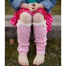 Bnaturalwell Kids' Fashion Baby Girls' Knitting Leg Warmers Crochet Lace Trim Children Leg Warmers Winter Kids Boot Socks JT011S(China)