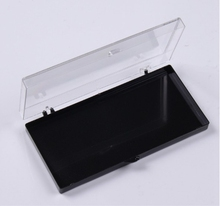 10pcs High Quality Injection molding hard box Eyelash Storage Case Packing Box Transparent Lid black Tray for Grafted eyelashes(China)