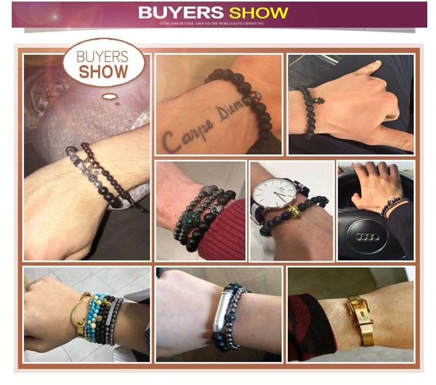 Mcllroy Tiger Eyes Buddha Bracelets Natural Stone Round Beads Elasticity Rope Men Bracelet Batman Charms Bracelets Bangle