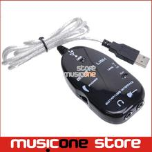 Electric Guitar Link USB Audio Cable Interface Guitarlink Lead to Computer For PC MAC MP3 Recording XP With Driver Software