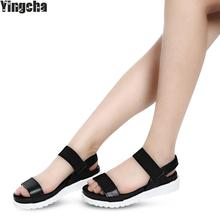 New Arrival Women Sandals Fashion Female Flat Shoes Casual Simple Style Women Shoes Plus Size Wholesale(China)