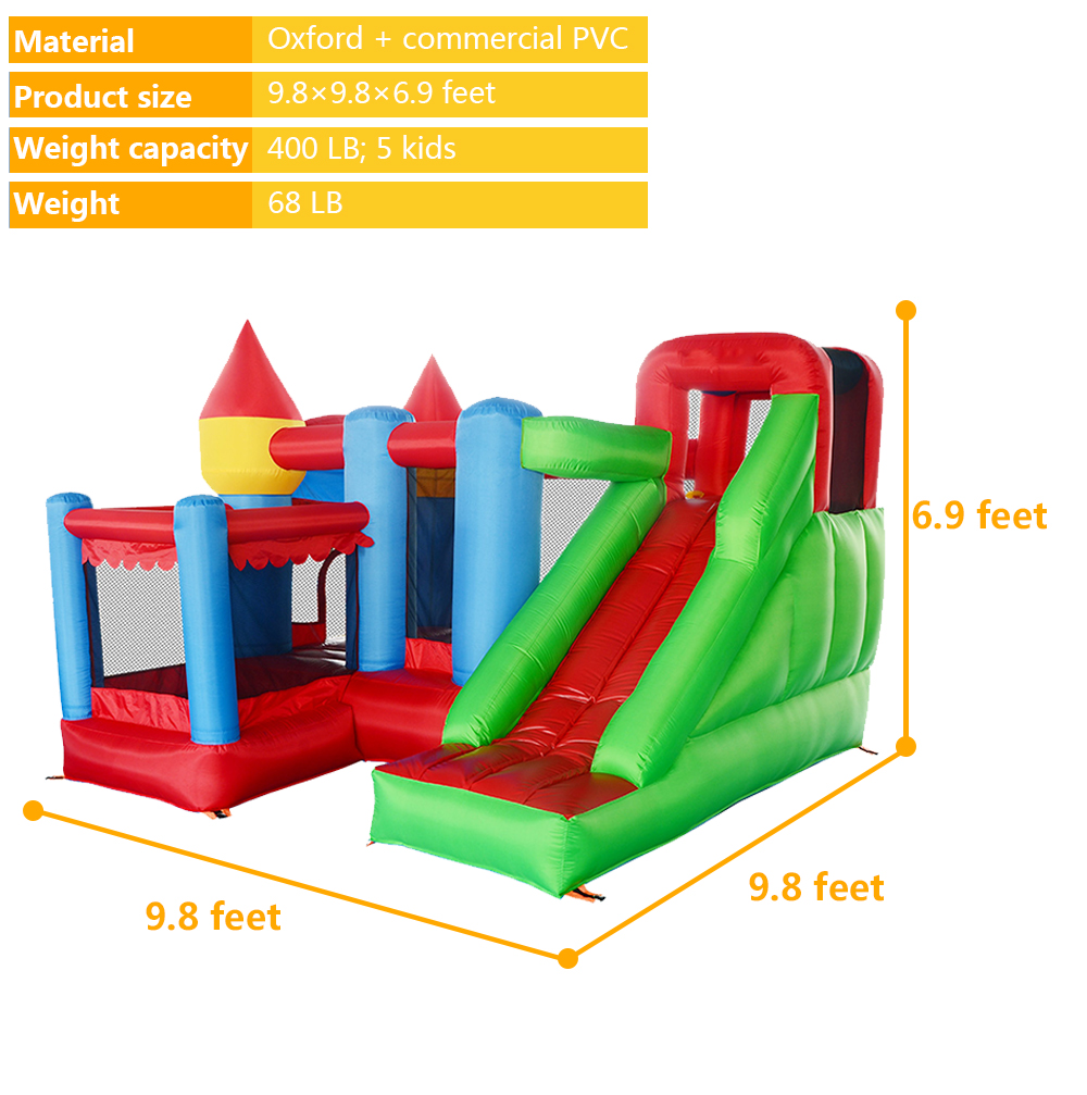 6063 inflatable bounce house bouncer castle jumper (7)