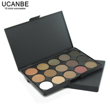 UCANBE Brand New Fashion 15 Earth Color Matte Pigment Glitter Eyeshadow Palette Cosmetic Makeup Set Nude Eye Shadow palettes(China)
