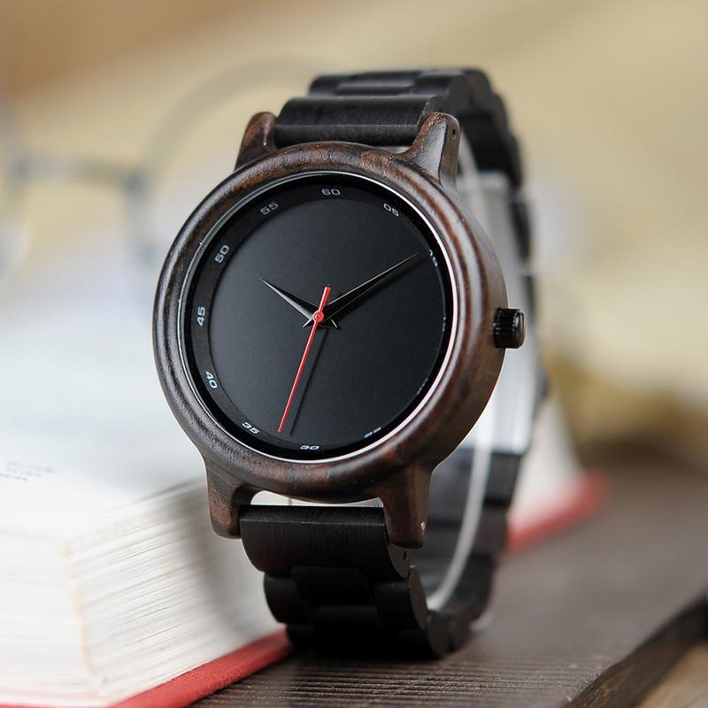 Zegarek drewniany Bobo Bird Black P10 9