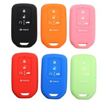 Silicone 5 Buttons Keyless Smart Key Fob Case Cover for Honda /Civic /Accord Pilot 2015 2016 2017(China)