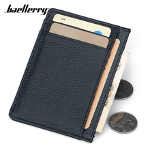 Buy Thin Soft 100% Cow Genuine Leather Black Credit Card Wallets Men Mini Card Holder Rfid Male Small Wallet Slim Men Purse for $4.59 in AliExpress store