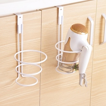 Practical hair dryer holder cupboard cabinet over door hook hanger storage rack organizer bathroom product(China)