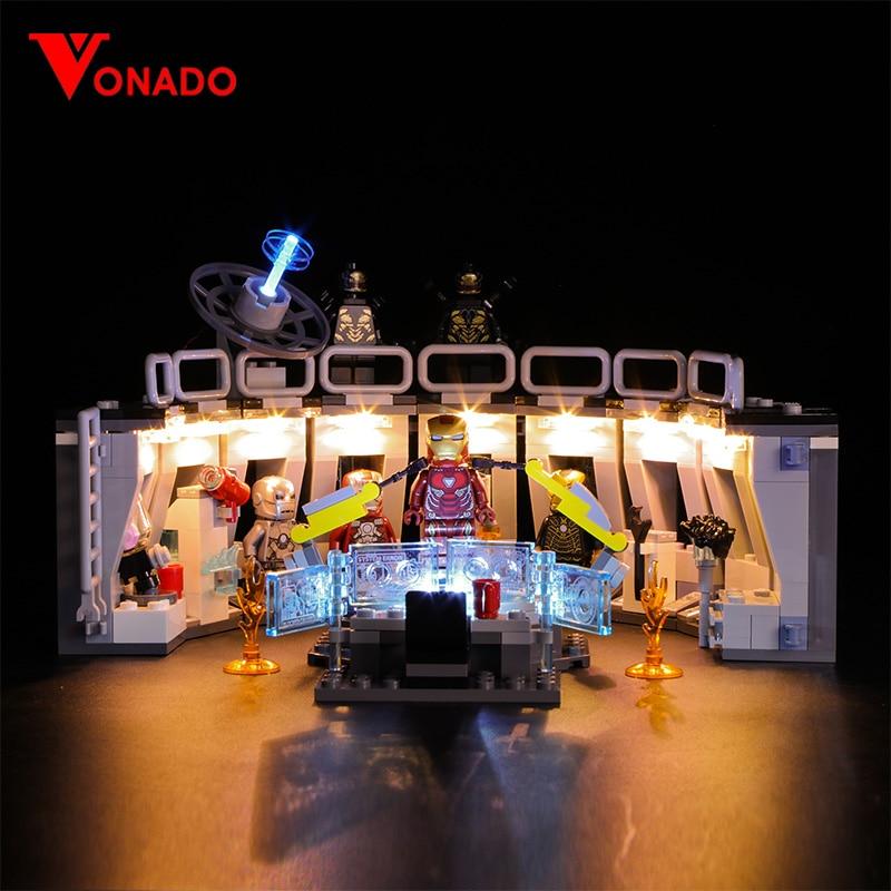LED Light Kit For LEGO 76125 Iron Man Hall of Armor Marvel Super Heroes Lighting