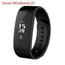 2017 U3 Bluetooth Smart Bracelet wristband Smartwatch Sleep Monitor Pedometer Sport Tracking Smart Watch For Android/IOS Phone