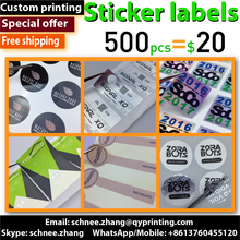 Custom printed Art Paper kraft paper self adhesive stickers labels security hologram clear PVC Vinyl plastic sticker seal label(China)