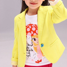 2017 New Spring & Autumn Kids Suits Jacket for Girls Children Brand Coat Trench Girl Blazers Kids Clothing 2 Colors girls coat
