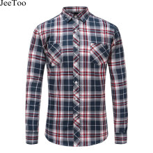 Buy Autumn Men Shirts 2017 Long Sleeve Slim Fit Mens Casual Shirts Flannel Cotton Plaid Shirt Men Warm Mens Check Shirt Plus Size for $12.82 in AliExpress store