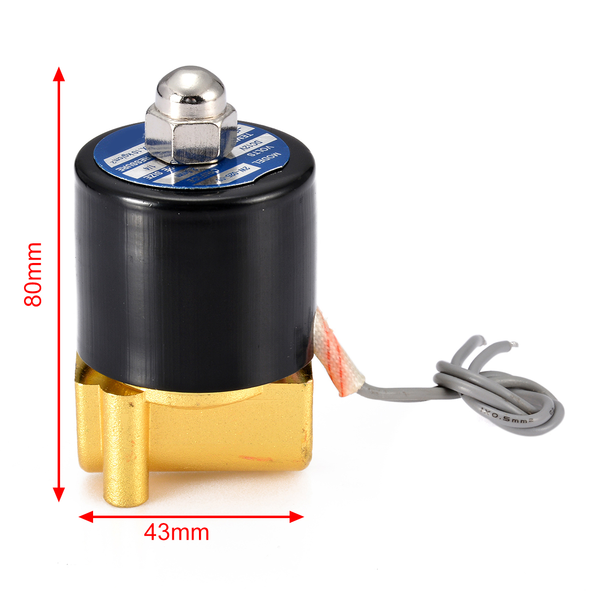 """DC 12V Electric Solenoid Valve 1/4"""" N/C 2-Way Valves Normally Closed Mayitr For Water Air Gas"""