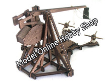 Free shipping wood scale model the ancient empire battlefield series Dovetail Winch ancient weapon assembly wood christmas gift