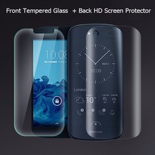 For YotaPhone2 Ultra Thin Tempered Glass Screen Protector Front +Back HD Clear Film for yota phone 2 Anti-Explosion Finger Print