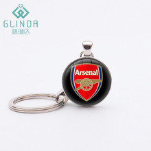GLINDA Arsenal F.C Football Team Badge KeyChain Silver Plated Pendant Sports Jewelry Alloy Key Ring Football Key Chains Gifts(China)