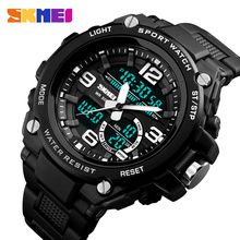 Buy SKMEI Men Dual Display Wristwatches Fashion 50M Waterproof Clock Relogio Masculino Outdoor Sports Watches 1340 for $14.07 in AliExpress store