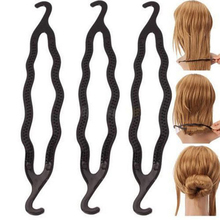 1PCS Donut Hair Women Braiders Hair Twist Styling Clip Stick Elastic Bun Maker Braid Tool Girls Hair Accessories Ring Shape Hot