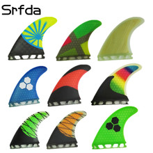 srfda free shipping fiberglass and honeycomb surfboard fin thruster Future G3 G5 G7 fin surf fins size S/ M/L fins  Top qual