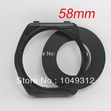 lower price Black 58mm Ring Adapter + Filter Holder Lens Ring Adapter FOR Cokin P Series(China)