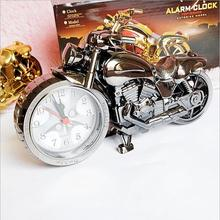 Europe Motorcycle Alarm Clock Decorative Home Accessories Ornaments Crafts Pedal Car Desktop Clock
