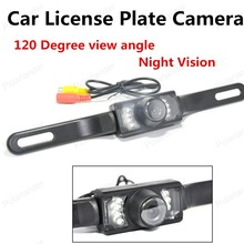 best selling 120 Degree View Angle Infrared Night Vision Waterproof Backup Car Rear View License Plate Camera