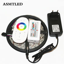 ASMTLED SMD5050 LED Strip Set DC12V 5M 60Leds/m RGB LED Tape + 2.4G RF Touch Screen Remote Controller + 12V 3A Power Adapter
