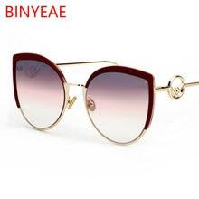 6ea51b4951e1 Брендовые сексуальные солнцезащитные очки с кошачьим глазом высокой моды  2018 новые дизайнерские большие солнцезащитные очки жен.