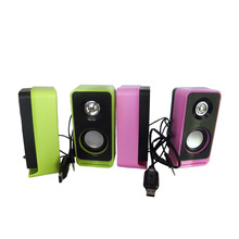 USB 2.0 Notebook Speakers Wired Stereo Small Audio Computer Speake Notebook PC MP3 MP4 3.5mm AUX IN