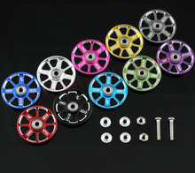 Free Shipping 4pcs 19mm Aluminium alloy ball-race Rollers for Tamiya 4wd mini RC car spare parts 15464