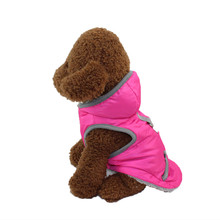 Prefect Quality Pink Dog Coat Jacket Pet Dog Clothes For Small Dogs Chihuahua Winter Warm Clothing Puppy Outfit Costume XS-L(China)