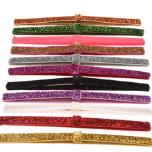 13PCS Glitter Headband Elastic HairBand Fashion Hair Headband Vintage Hair Accessory Headwear DIY Hair Ribbon Head wrap(China)