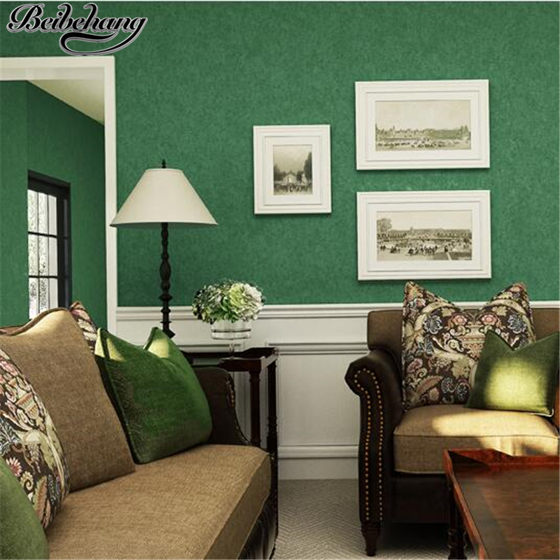 beibehang wallpaper American Retro Pure Color Plain Nonwovens Eco Wallpaper Living Room Bedroom Study TV Background wallpaper<br>