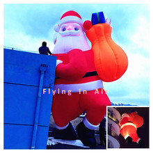 5m/8m Outdoor Decorative Christmas Inflatable Santa Claus with Bag