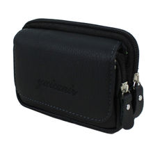 New Men Genuine Leather Vintage Travel  Cell Mobile Phone Belt Pouch Purse Fanny Pack Waist Bag
