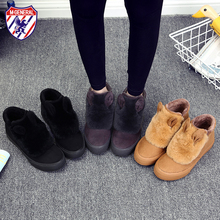 M.GENERAL Women Winter Boots Fur Female Warm Ankle Boots Snow Shoes Women Shoes Stivali Botas Mujeres Bottes Femmes #MJ-0091