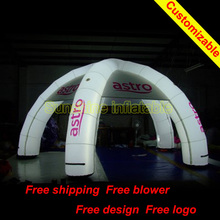 6mLx6mWx3mH different use light led inflatable dome tent for events/advertising/party/exhibition with blower