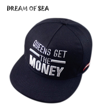 Fashion Embroidery Get Money Letter Snapback Cap Men Women Hip Hop Hat Casquette Cotton Casual Adjustable Basketball Cap JX168(China)