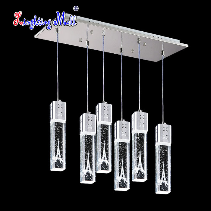 Fashion Modern Home Lights Bar lamp Eiffel Tower Design Crystal Pendant Lights LED 5W Free Shipping support customized<br><br>Aliexpress
