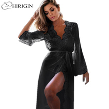 HIRIGIN 2017 Women's Sexy Lace Lingerie Nightwear G-string Dress Babydolls Erotic Transparent Collar Chemises Adult Suits(China)