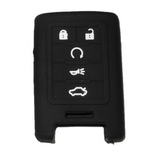 Silicone Cover Skin fit for CADILLAC ATS SRX DTS CTS STS XTS CHEVROLET Smart Remote Key Case With logo