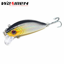 1Pcs 5cm 3.5g Minnow Hard Fishing Lure Artificial Bait 3D Eyes Fishing Pesca Wobblers Japan Mini Crankbait Minnows YR-201