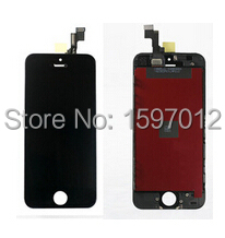 10pcs New Lcd display screen+touch glass panel digitizer assembly for iphone 5s black/white free shipping<br><br>Aliexpress