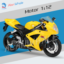 1:12 Scale New SUZUKI GSX-R600 Metal Diecast Model Motorcycle Motorbike Racing Cars Toys Boys Vehicle Moto GP Collection